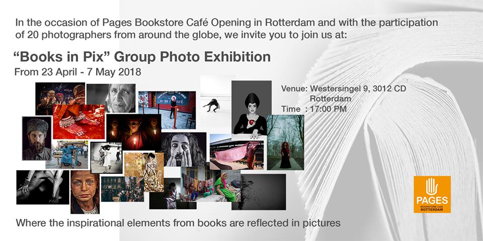 "Privileged to be part of ""Books in Pix"" #Exhibition, to coincide with the launch of #Pages in #Rotterdam today! Check out my project #Figures_Anatomy being showcased there. 🙂 Location: https://goo.gl/W3nQM1"